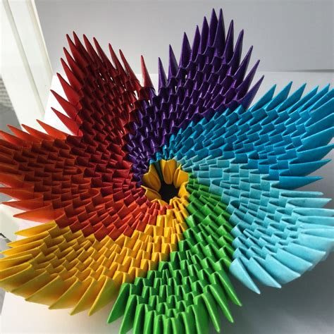 3d origami paper rainbow bowl crea origami kirigami rainbows bowls and learn how