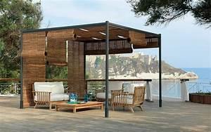 idealer sonnenschutz pergola mit rotierenden lamellen With französischer balkon mit kunststoffschrank garten wasserdicht