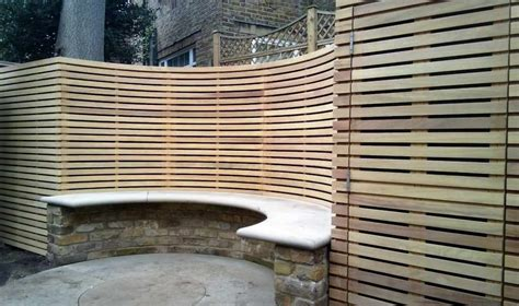 Curved Trellis Fencing by Contemporary Slatted Panels Essex Uk The