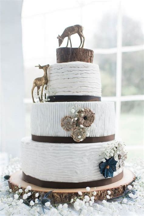 rustic tree stumps wedding cakes   country