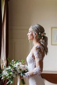 How To Make A Checklist Romantic Low Ponytail With Fresh Roses