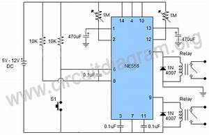 Dual Time Delay Relays Using 556 Timer