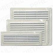 Exterior Wall Exhaust Vent Cover by WHITE LOUVRE AIR VENTS Small Large Ventilation Ducting Brick Wall Grille Cove