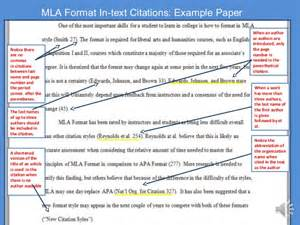 In Text Citation MLA Format Examples