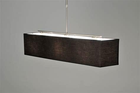 hanglamp  modern zwart stof rechthoekig