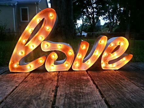 light up sign in cursive light up marquee sign