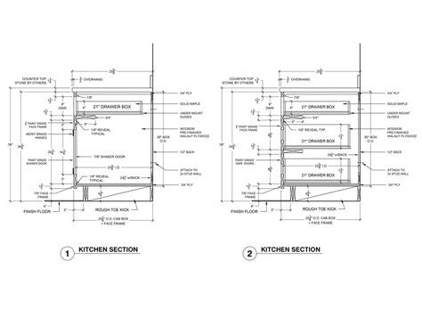 kitchen cabinet section kitchen elevation ideas ag cad designs 2747