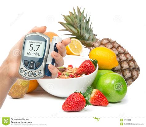 glucose cuisine diabetes diabetic concept glucose meter in and