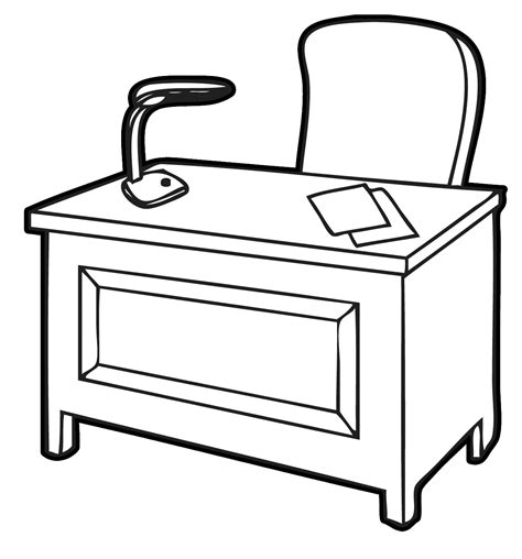 black and white desk l desk clipart black and white clipart panda free