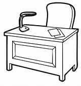 Table Clip Clipart Desk Clipartpanda Round Terms sketch template