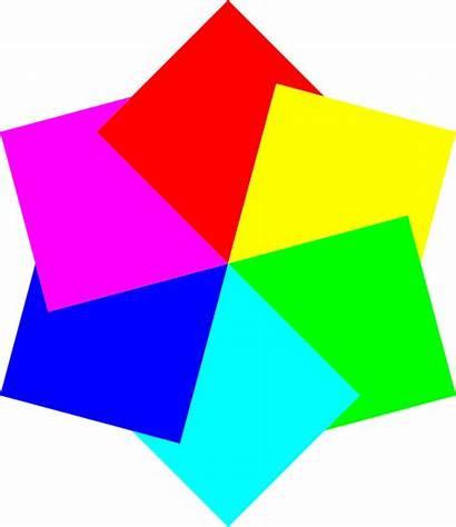 Squares Clipart Hexagram مربعات الوان صوره I2clipart