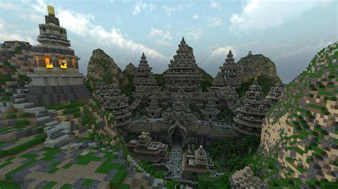 fond decran minecraft le temple dankara