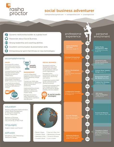 Resume Infographic Creator by Infographic Resume Resume Plakat Und Arbeit