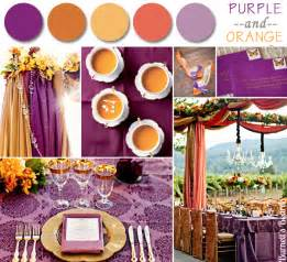Purple and Orange Fall Wedding Colors