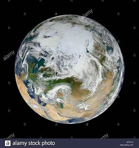A view of the full planet earth as seen from space looking ...