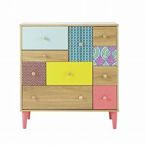 Meuble Multi Tiroirs : commode cabinet multi tiroirs bamako maison du monde meubles accessoires pinterest ~ Teatrodelosmanantiales.com Idées de Décoration