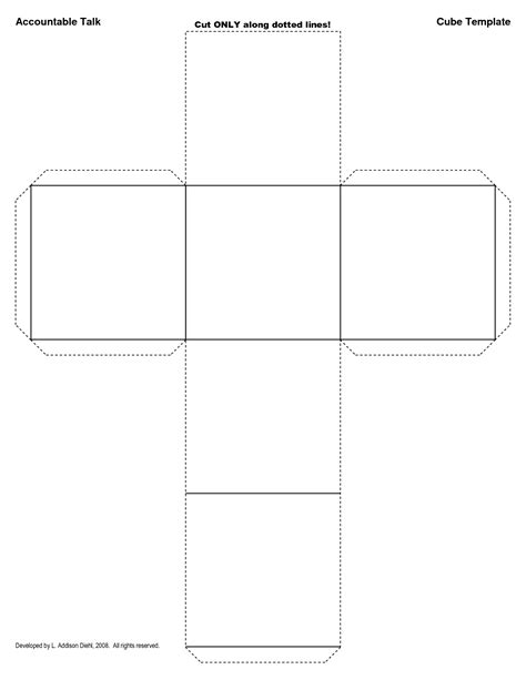 Cube Template 5 Best Images Of Cube Template Printable Page Blank