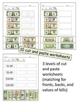 money math dollar bills i by breezy special ed teachers pay teachers