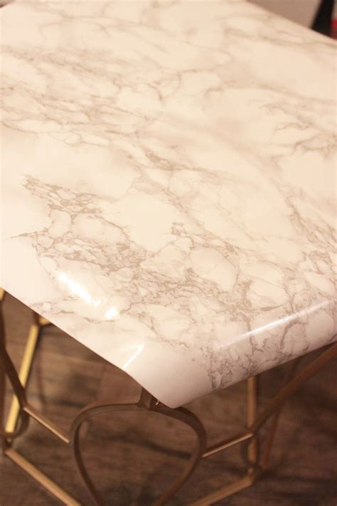 faux marble table l diy faux marble table
