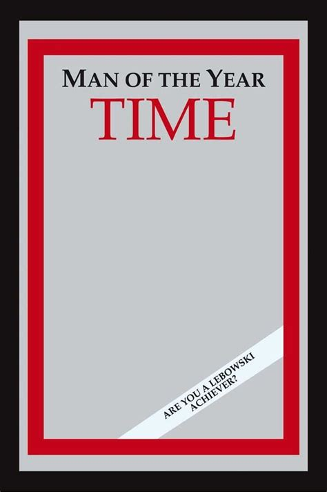 Time Magazine Person Of The Year Template Psd by Big Lebowski Mirror 9 Quot X 12 Quot Bachelor On A Budget