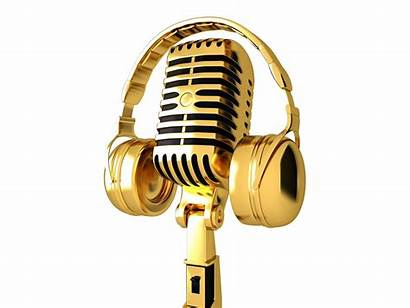 Microphone Gold Headphone