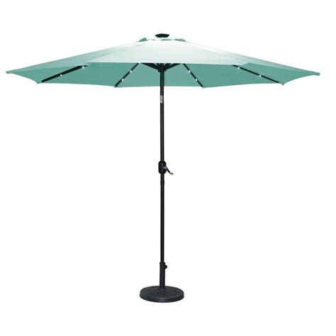 2 7m light up teal parasol solar light garden umbrella sun