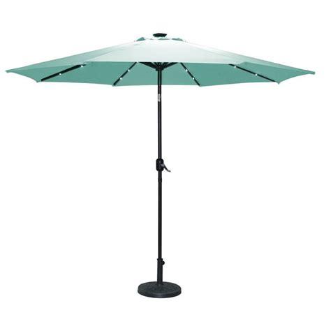 2 7m light up teal parasol solar light garden umbrella sun