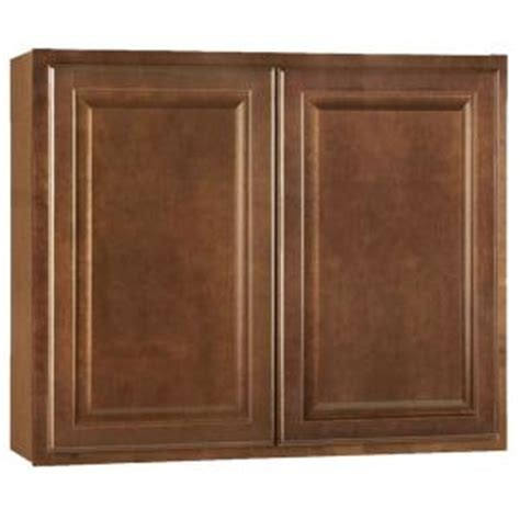 home depot cognac cabinets hton bay hton assembled 36x30x12 in wall kitchen