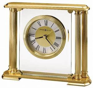 Athens, Solid, Brass, Table, Clock, By, Howard, Miller