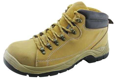 Pu Injection Pu Nubuck Leather Safety Shoes