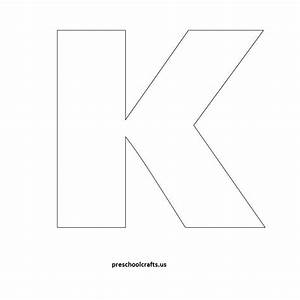 Letter k template letter of recommendation for Letter j template preschool