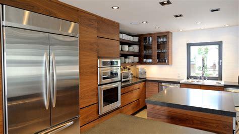 modern kitchen  walnut  stainless ateliers jacob