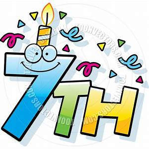 Number 7th Clipart