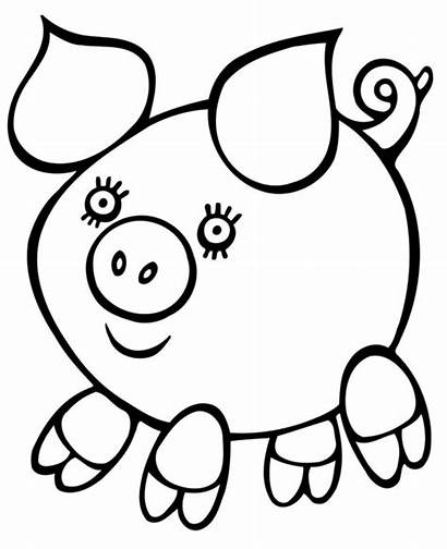 Coloring Easy Pages Pig