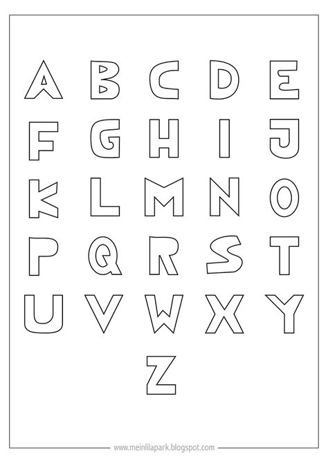 printable letters of the alphabet free printable coloring alphabet letters ausdruckbares 24073