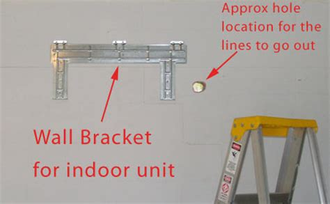 ac system wall bracket attach   wall