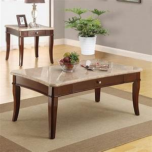 dreamfurniturecom britney white marble top coffee end With granite coffee table and end tables