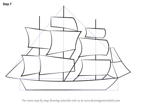 How To Draw A Big Boat Step By Step by Learn How To Draw A Ship For Boats And Ships Step