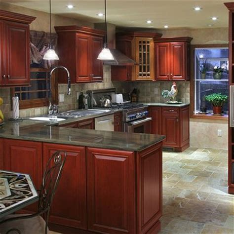 cherry wood kitchen cabinets with black granite pin by tina harris on kitchen cabinets 9804