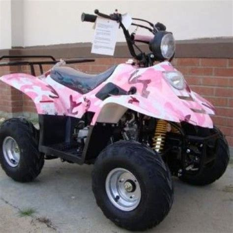 Girls Pink Camo 4 Wheeler
