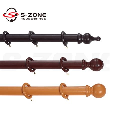 high quality wooden curtain rod with various colors
