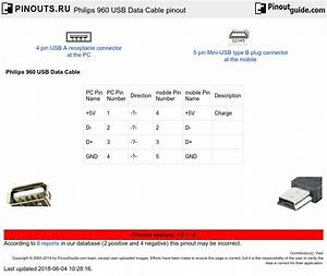 Philips 960 Usb Data Cable Pinout Diagram   Pinouts Ru