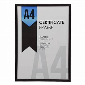 bulk buy 6 x lifestyle brands a4 certificate frame black With a4 document frame