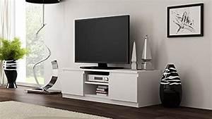 Lowboard Holz Weiß : galdem gatvws tv lowboard holz wei 120 x 36 x 40 cm wohnwand ~ Orissabook.com Haus und Dekorationen