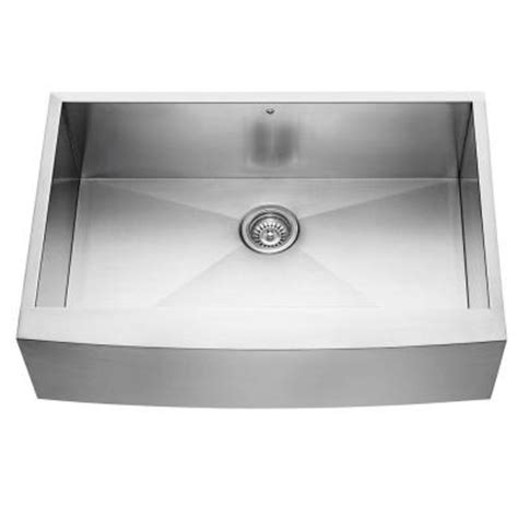Kitchen Sink 33x22 Single Bowl by Vigo Farmhouse Apron Front Stainless Steel 33x22 25x10 In