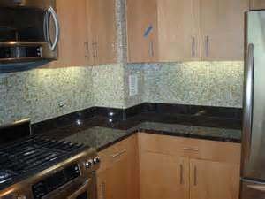 Kitchen With Glass Tile Backsplash Jeeyen P New Jersey Custom Tile