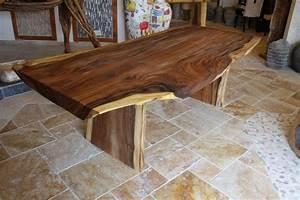 Tisch baumstamm massiv suar der tischonkel for Tisch baumstamm