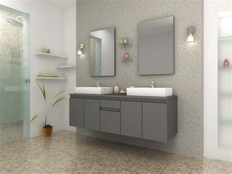 meuble de salle de bain vasque carré gris mat