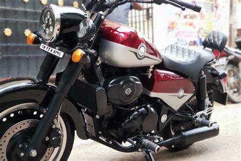 Modification Harley Davidson Boy royal enfield classic 350 modified into a harley davidson