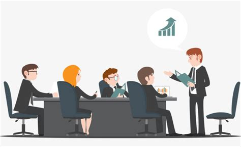 14434 business meeting clipart vector business meetings meeting room office character